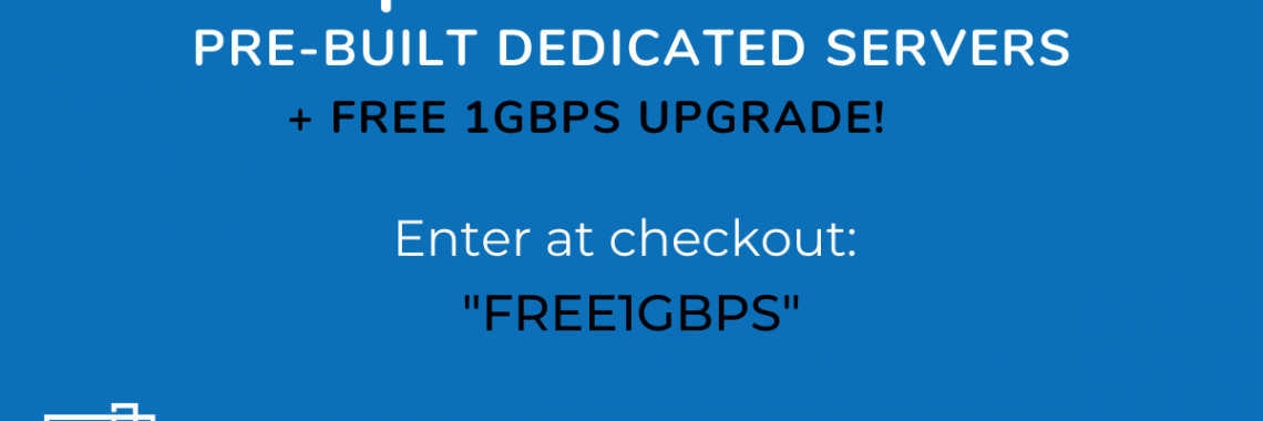 40% off pre-built dedicated servers