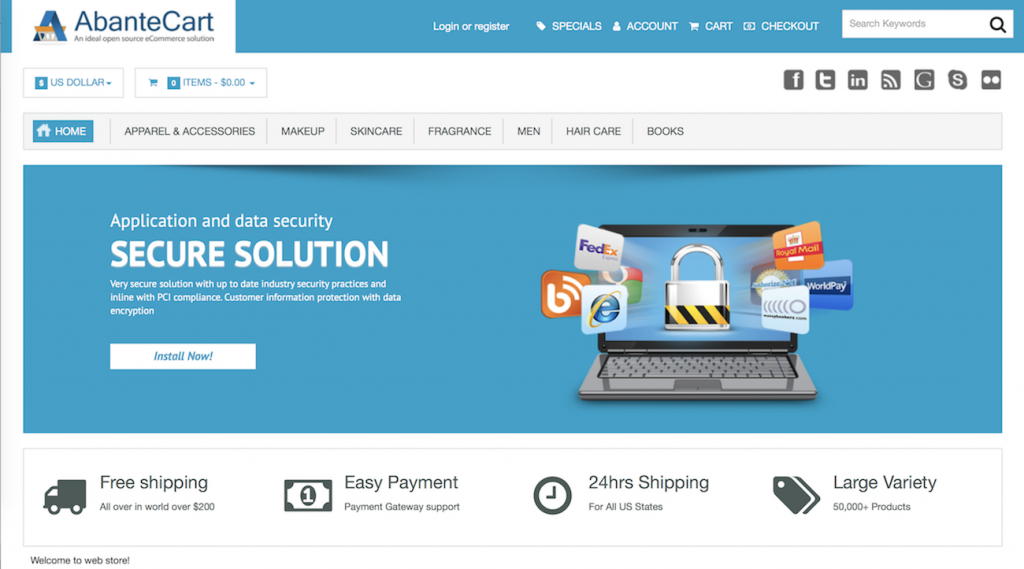 AbanteCart ecommerce software
