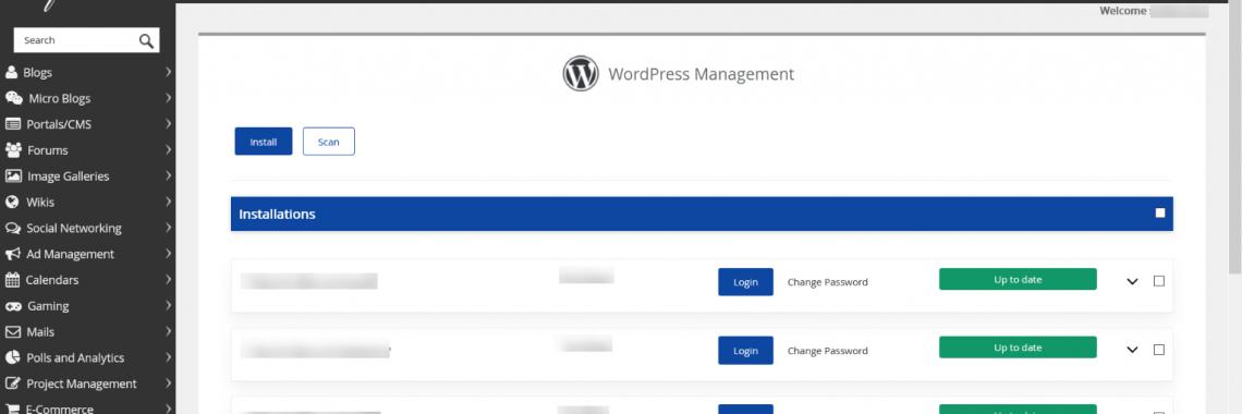 Change WordPress Password in Softaculous WordPress Manager