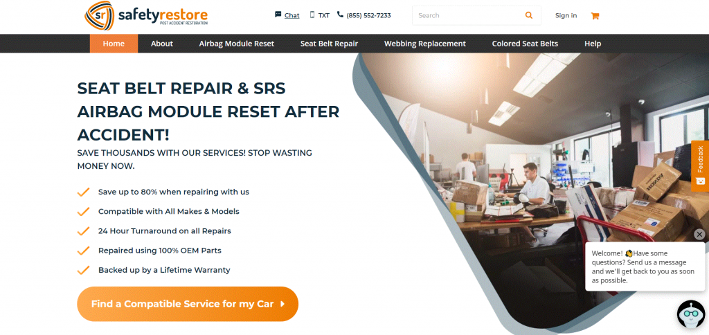 safetyrestore.com Thirty Bees Ecommerce Store