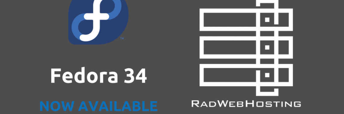 Fedora 34 now available for vps